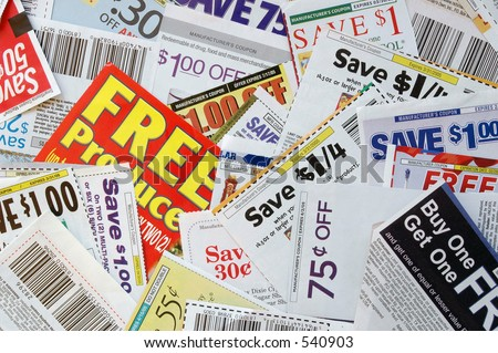 coupon time - stock photo