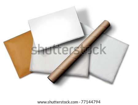 Courier Packages - stock photo