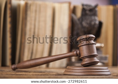 Court gavel,Law theme, mallet of judge - stock photo