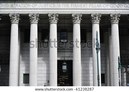 court house of the New York Supreme Court in Lower Manhattan. - stock photo