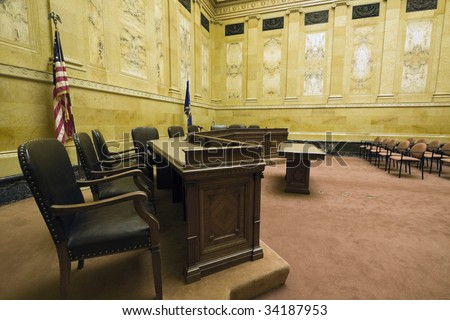 Court Room in Madison, Wisconsin. - stock photo