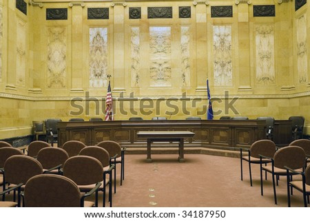 Court Room in State Capitol Building - Madison, Wisconsin.