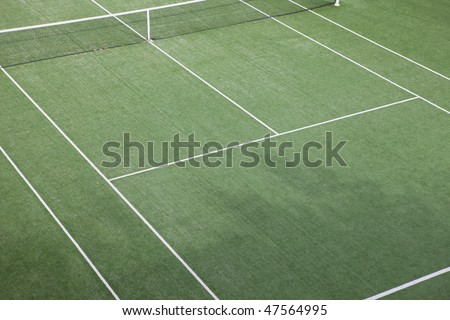 court view on a tennis court