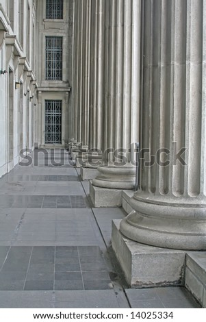 Courthouse Academic Building Made of Stone and Concrete - stock photo