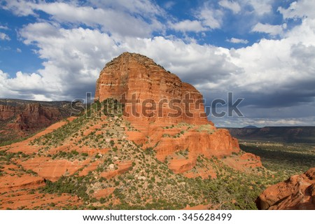 Courthouse Butte in the Sedona region, one of the many Red Rocks formation in the area - stock photo