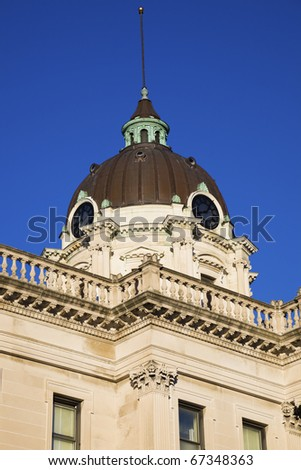 Courthouse in  Bloomington, Illinois, USA - stock photo