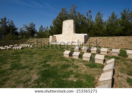 Courtney and Steele 's Post military cemetery Gallipoli, Turkey - stock photo