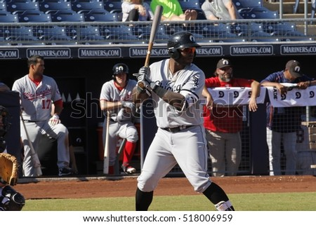 Courtney Hawkins left fielder for the Glendale Desert Dogs at Peoria Stadium in Peoria AZ USA November 17,2016.