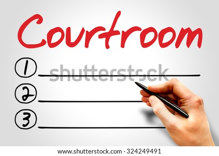 Courtroom blank list concept - stock photo