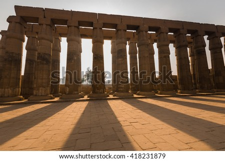 Courtyard of  Luxor Temple, Egypt - stock photo