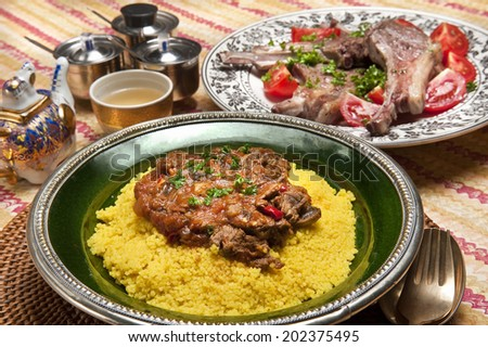 Couscous And Roast Sheep
