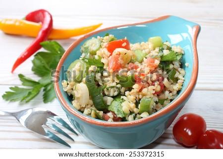 couscous salad - stock photo