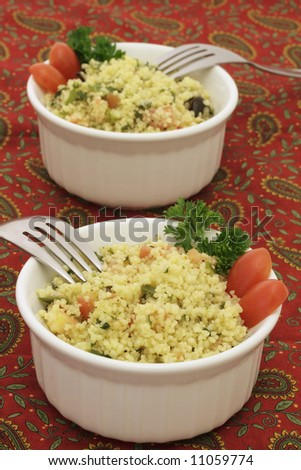Couscous salad for two
