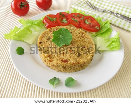 Couscous with salad