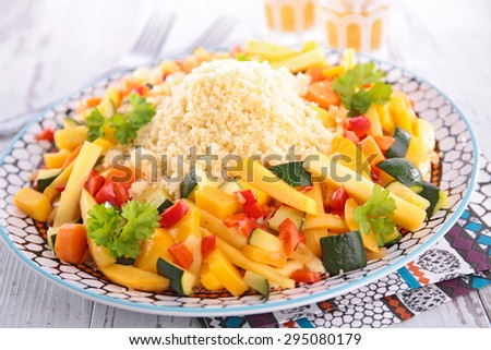 couscous with vegetable