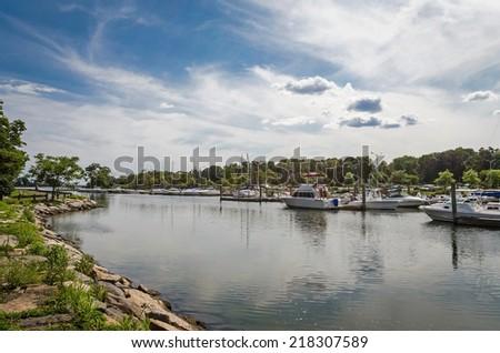 Cove Harbor, Connecticut - stock photo