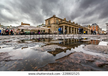 Covent Garden Market on Rainy Day, London, United Kingdom - stock photo