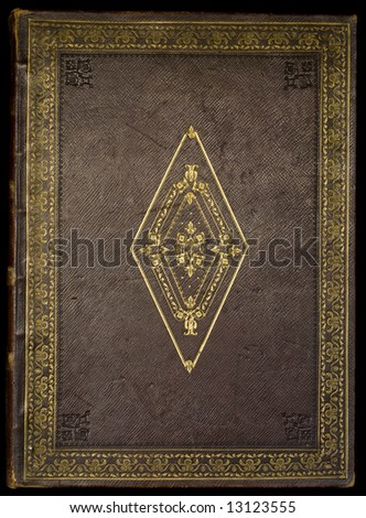 cover from an antique family bible. - stock photo