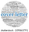Cover letter concept in word tag cloud on white background - stock vector