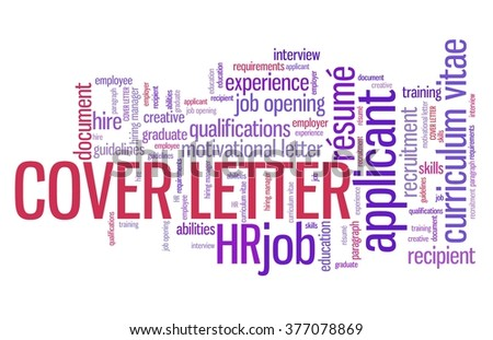 cover letter employee qualifications concept employment word cloud. Resume Example. Resume CV Cover Letter