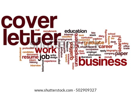 Cover Letter Word Cloud Concept Stock Illustration 502909327 ...