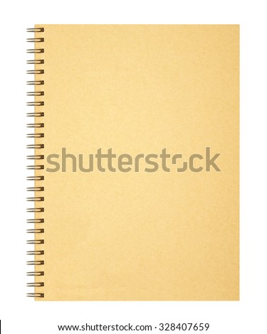 Cover notebook on white background - stock photo