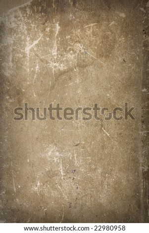cover of an ancient XIX century book  as a background - stock photo