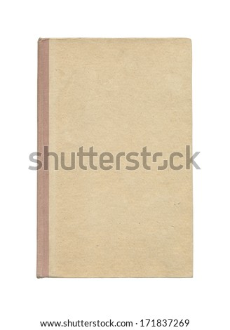 Cover of book on a white background. High quality texture - stock photo