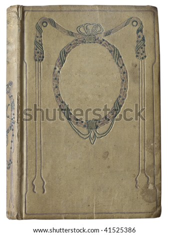 cover of old book - stock photo
