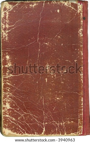 Cover of the old book with the shabby edges - stock photo
