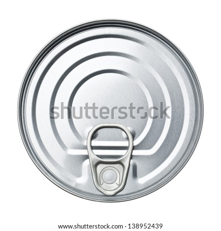 Cover tin isolated on white background - stock photo