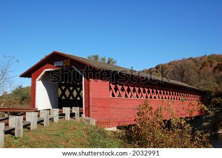 Covered Bridge - stock photo
