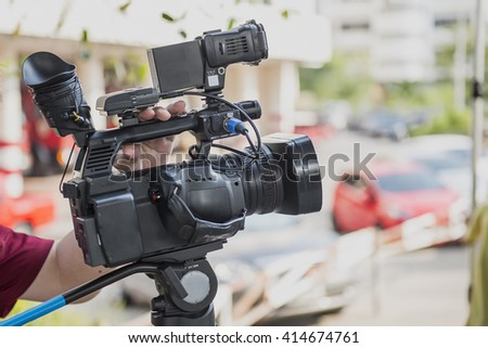 Covering an event with a video camera