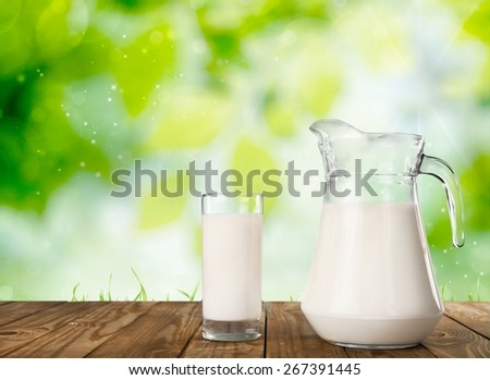 Cow. Cow and milk - stock photo