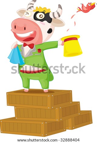 cow on boxes (vector available in portfolio)
