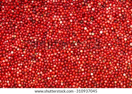 Cowberries in the water.