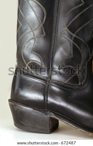 Cowboy Boot Heel - stock photo