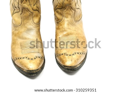 Cowboy boot isolated on white background