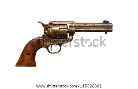 Cowboy gun - stock photo