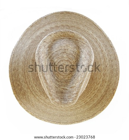 Cowboy Hat from Above - stock photo