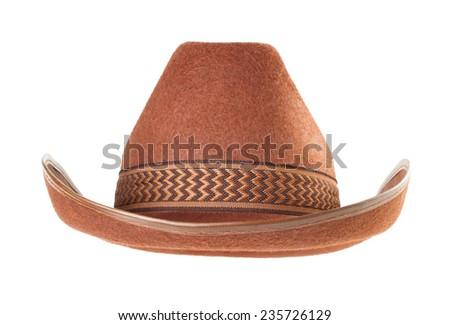 cowboy hat isolated on white background - stock photo