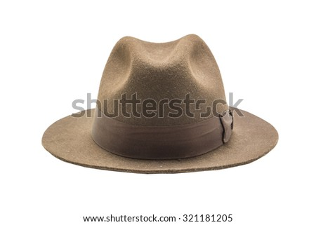 cowboy hat isolated on white close up shoot - stock photo