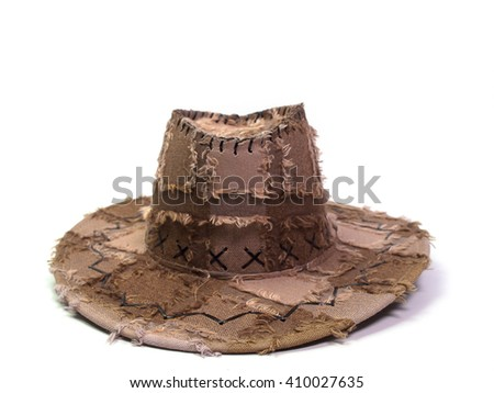 cowboy hat  , Placed on a white background. - stock photo
