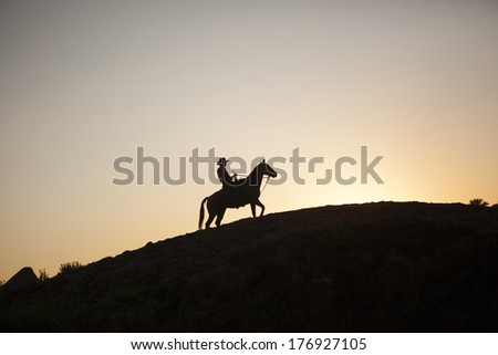 Cowboy, North Dakota - stock photo