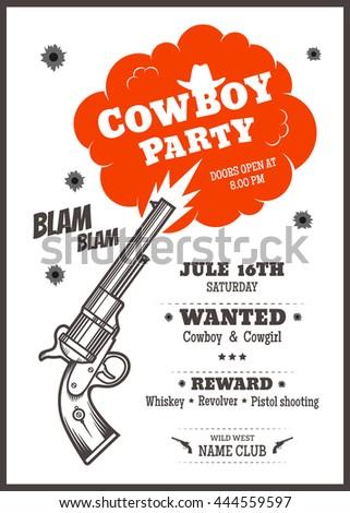 cowboy invite template