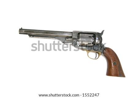 Cowboy Revolver - stock photo