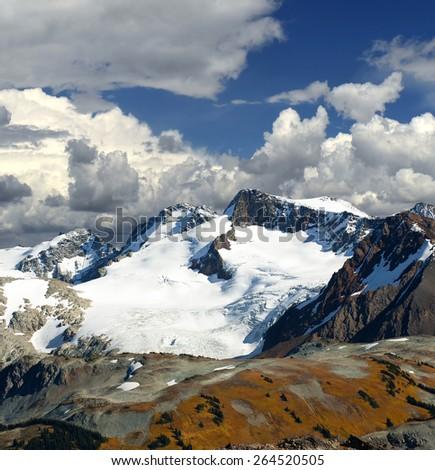 Cowboy Ridge in Coast Mountains, near Whistler, British Columbia, Canada - stock photo