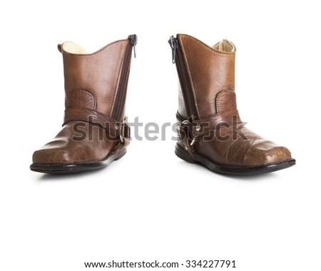 Cowboy shoes isolated on a white background - stock photo