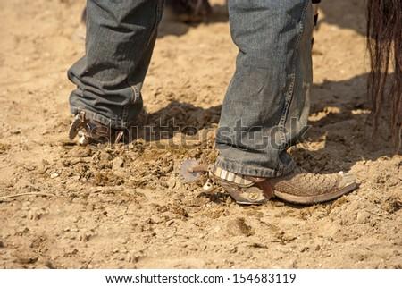 Cowboy spurs - stock photo