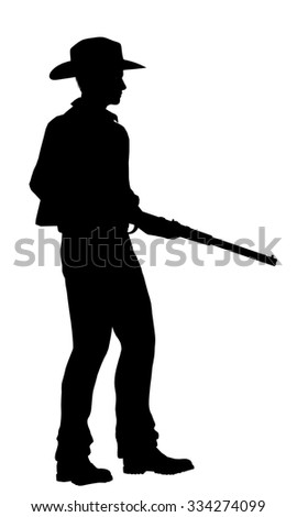 Cowboy with rifle silhouette